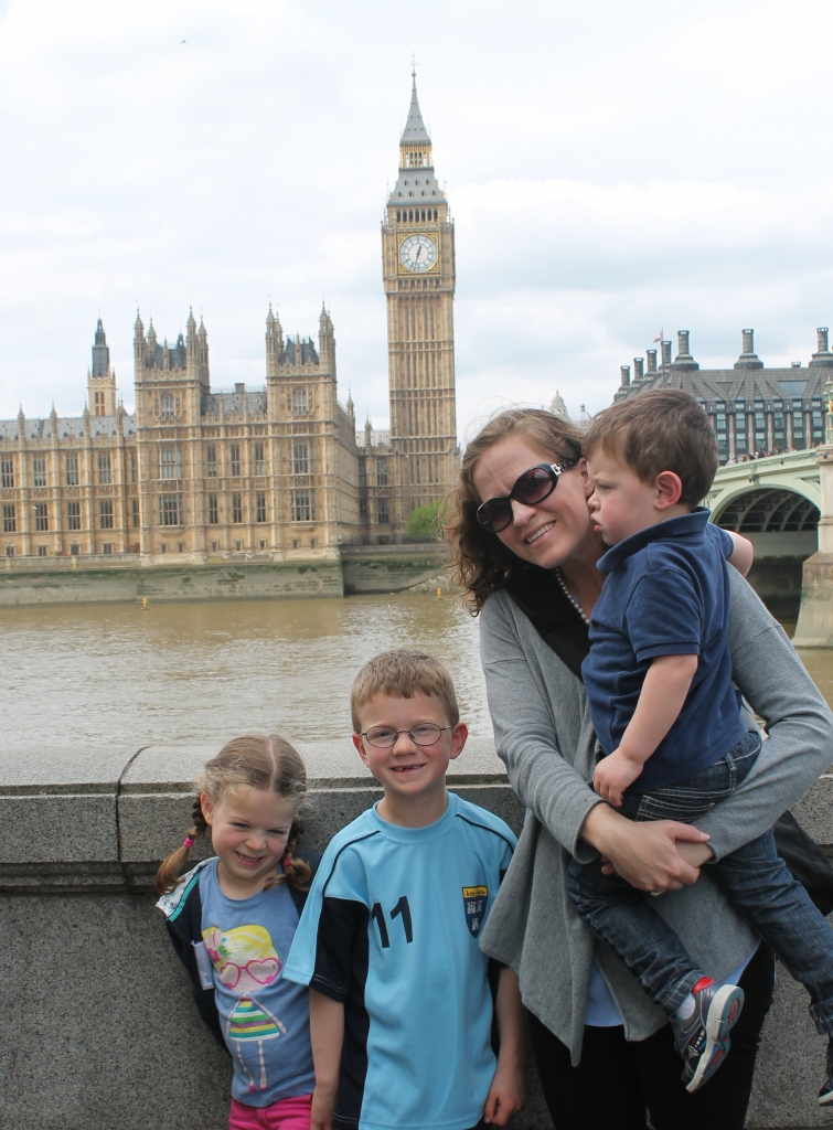 The kids and I at Westminster